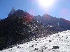 Rock Climbing Photo: Les Drus and Aiguille du Moine