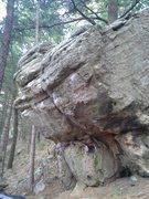 Rock Climbing Photo: Starting on the right: Right Corner, Rock Biter, M...