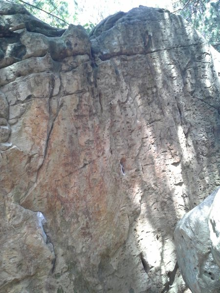 Rock Climbing Photo: Off the Pocket on the right, Layed Back to the lef...