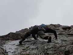 Rock Climbing Photo: Sport climbing on rain day