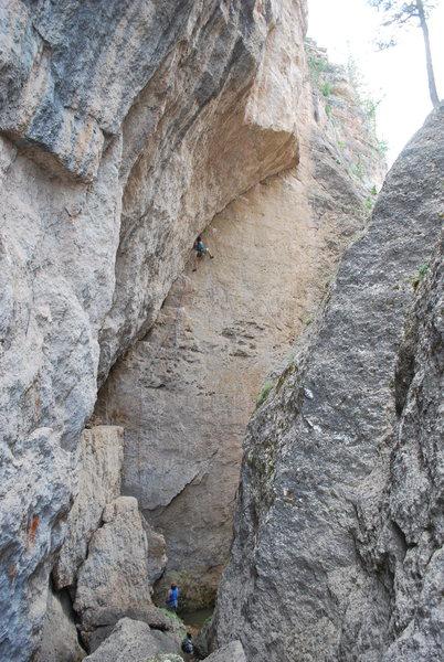 Rock Climbing Photo: Tiff on Char Char.