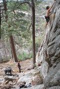 Rock Climbing Photo: Garland headed up Earth Angel.