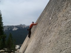 Rock Climbing Photo: Middle of the second crux.