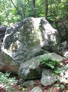 Rock Climbing Photo: Approach trail view of boulder