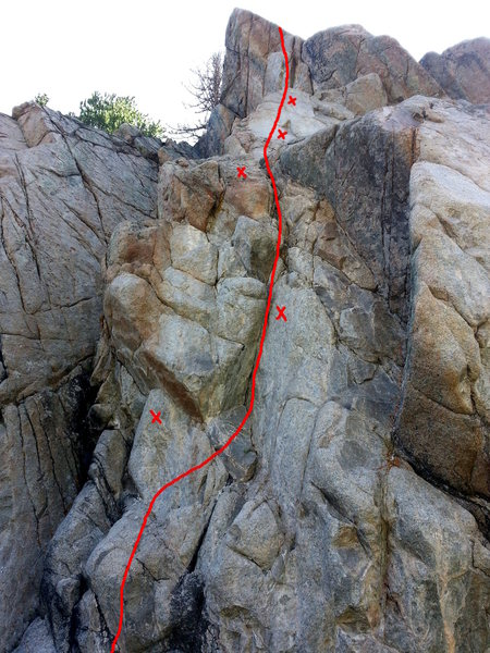 Rock Climbing Photo: Route detail for Beaver Creek or Bust.