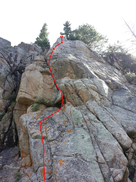 Rock Climbing Photo: Beta photo for Yes-O-Yes.