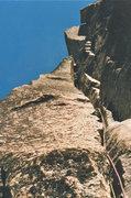 Rock Climbing Photo: Phil Gleason, 5.10 chimney variation. P4, Burgundy...