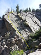 Rock Climbing Photo: Beta photo for Le Divorce.