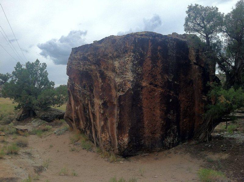Striped Boulder, Burnt Orange.