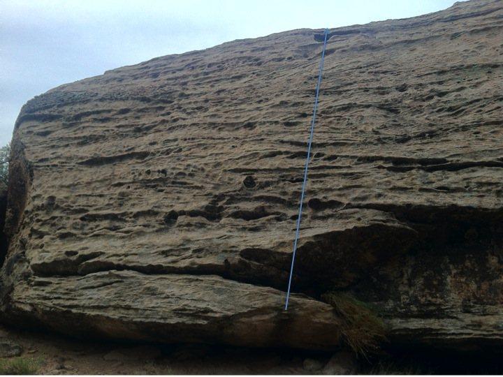 Rock Climbing Photo: Beta for Bush in the Face.