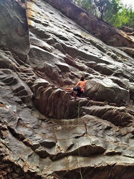 Using the gaston beta in the beginning of the crux.