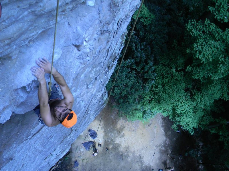 Rock Climbing Photo: Alex Orkwis topdogging Pogue Ethics.