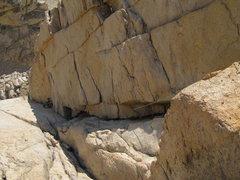 Rock Climbing Photo: Crux corner of p5