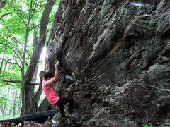 Rock Climbing Photo: Parlier on the FA of Quartzite Stripes