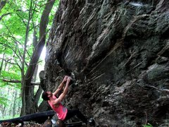 Rock Climbing Photo: Parlier at the start to Quartzite Stripes