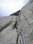 Rock Climbing Photo: Looking up to the roof on P2/3 (depending on how y...