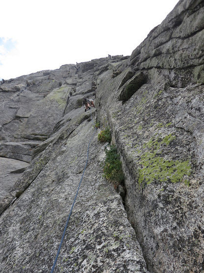Rock Climbing Photo: Ted finishing P2