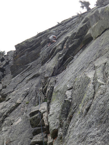 Ted just turning the lip on P3 (the crux).