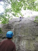 Rock Climbing Photo: Start of The Balless Boltchoppers.  I threw in a s...