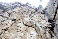 Rock Climbing Photo: On the Triple S corner.  The Marshall's Madness cr...