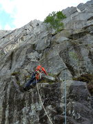Rock Climbing Photo: Leading up to the base of the good climbing