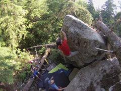 Rock Climbing Photo: Ryan on Wise Man's Fear