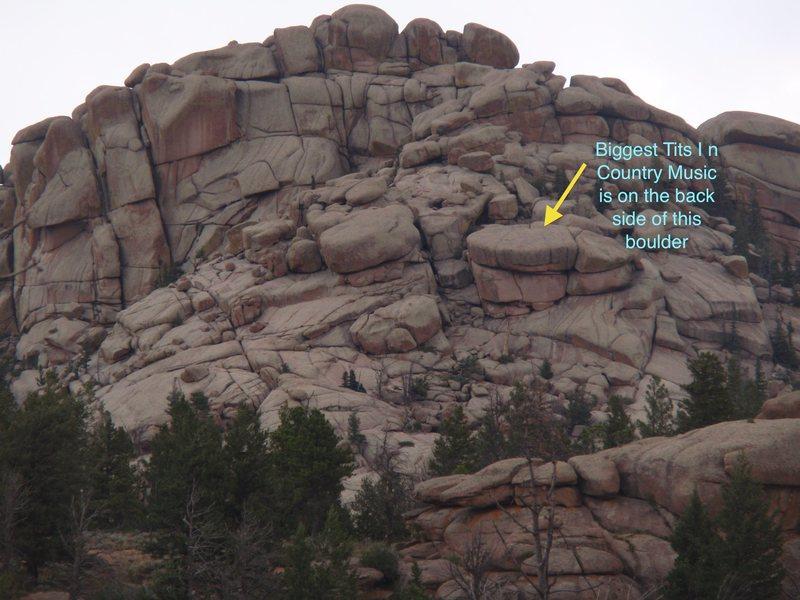 Rock Climbing Photo: Location of BTICM.