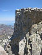 Rock Climbing Photo: Summit shot, topping out on 3rd Pillar of Dana.  P...