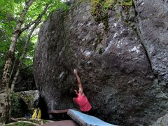"Rock Climbing Photo: Parlier on the FA of ""Strength Generator&quot..."