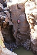 Rock Climbing Photo: AMH in what I thought to be the cruxy bit. Photo b...