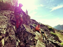 Rock Climbing Photo: On last pitch, of Black Streak Enjoying the wide l...