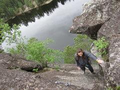 Rock Climbing Photo: Caius Rickard finishing up Poison Ivy