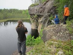 Rock Climbing Photo: Psicobloc potential near Jeff's World
