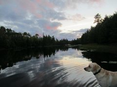 Rock Climbing Photo: On our way back to the cabin, Pele reflects on the...