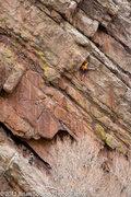 Rock Climbing Photo: Finishing the route.