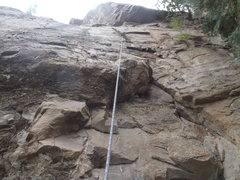 Rock Climbing Photo: 5.8 Route is better than it looks, especially afte...