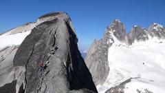 Rock Climbing Photo: West Ridge of Pigeon Spire, July 23, 2013. Descend...