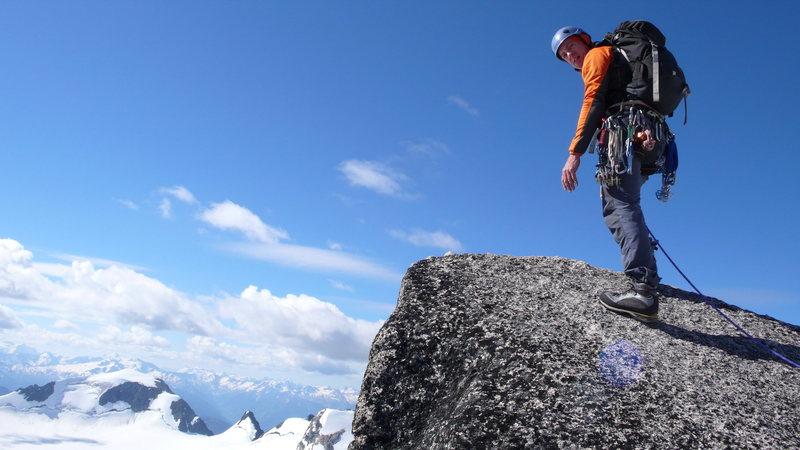 Rock Climbing Photo: Summit of Pigeon Spire, 7/23/13.
