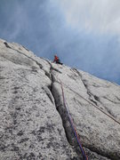 Rock Climbing Photo: Surf's Up - west face of Snowpatch Spire. The fun ...