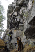 Rock Climbing Photo: Tyler and his boy on the FA
