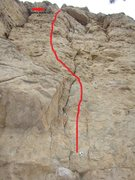 Rock Climbing Photo: Topo for No Turning Back, 5.10c