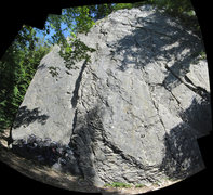 Rock Climbing Photo: The main/right part of the wall. Ignore the fish-e...