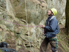 Rock Climbing Photo: Jim Opdycke working the ropes