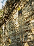 Rock Climbing Photo: SteveZ onsighting Donor in the fall of 2008.  Grea...