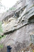 Rock Climbing Photo: Me on FA of Baby Come Home. This here I'm grabbing...