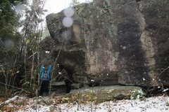Rock Climbing Photo: One of MANY boulders up and around Jeff's World. S...