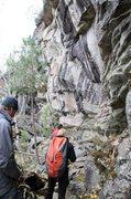 Rock Climbing Photo: Coming up on Jeff's World Proper