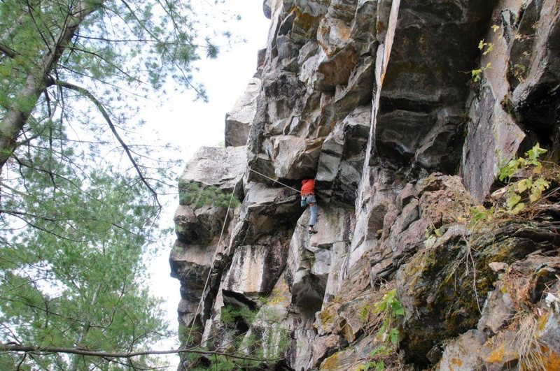Rock Climbing Photo: Sean Foster TRing a nice trad line