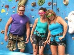 Rock Climbing Photo: three of us, sporting cool sunglasses.