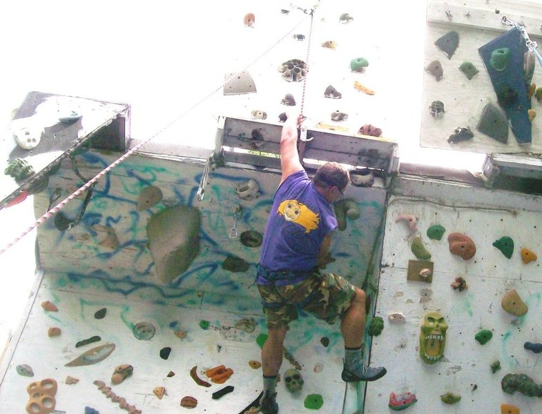 Rock Climbing Photo: pulling the big roof move